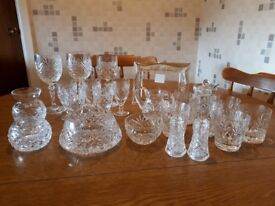 Collection of Irish Crystal pieces