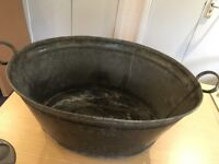 Vintage Small Size Galvanised Tin Bath LBB No 30