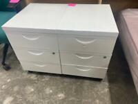 Matching white 3 drawer pedestals £25 each