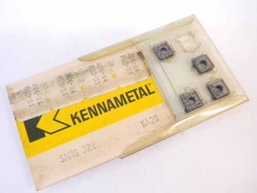 NEW SURPLUS 7PCS. KENNAMETAL SNMG 322  GRADE: K420  CARBIDE INSERTS