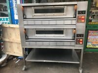 ITALIAN 2 DECK GAS PIZZA OVEN CATERING COMMERCIAL TAKE AWAY CAFE KEBAB CHICKEN KITCHEN SHOP BAKERY