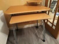 BEECH COMPUTER DESK TABLE, EXCELLENT CONDITION £30 ovno