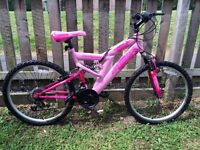 Girls Pink Bike, 26 inch wheels, (Excellent condition, less than year old)