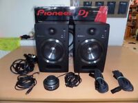 """Pioneer S-DJ05 5"""" Active Reference Speakers - Stunning Sound in Perfect Working Order - Boxed etc"""