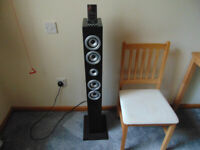 Itek iRise Mains Powered Tower Speaker / iPod Dock. With Remote & Instructions.