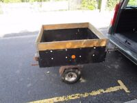 """""""""""REDUCED""""""""SMALL TRAILER CAR BOX TRAILER IDEAL FOR CAMPING OR TIP RUNS."""