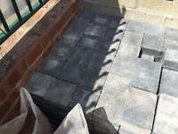 Blue untumbled block pavers new condition