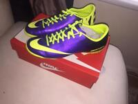 Purple Nike Mercurial Football boots size 8