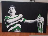 Kieran Tierney canvas Celtic