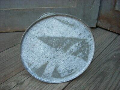 "Antique Tin Metal Sugar Shaker Sieve Flour Dredger Bakeware Large Size 7"" x 5"""