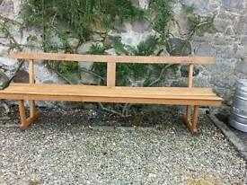 Lovely Vintage 8 ft. Oak Seat