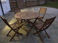 Acacia Wood circular garden table
