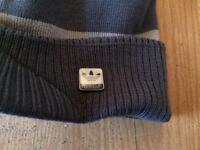 Adidas Originals Peaked Beanie Hat - Enamel Pin Badge **NEW**