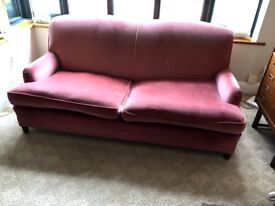 Sofa for sale, solid timber frame would look very contemporary reupholstered in modern fabric.