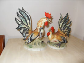 Pair of Lefton Fighting Roosters