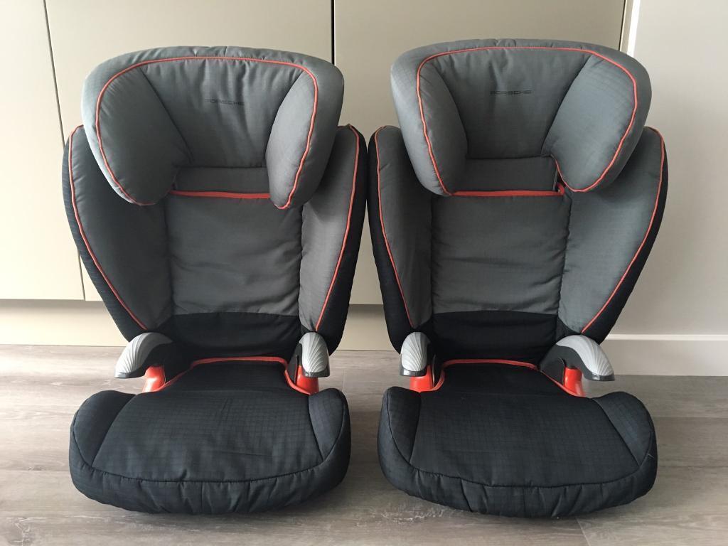 2 PORSCHE 911 Child Car Seats BRITAX Romer Kid Plus Group 3