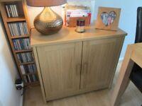 OAK SIDE-BOARD>>WITH FREE COPPER TABLE LAMP!!! BARGAIN!!!