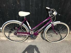 Vendec Atlantic Vintage Ladies Town Bike. Serviced, Free Lock, Lights, Delivery