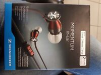 New unopened Sennheiser Momentum In-Ear earphones iPhone