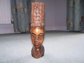 African Wooden Head
