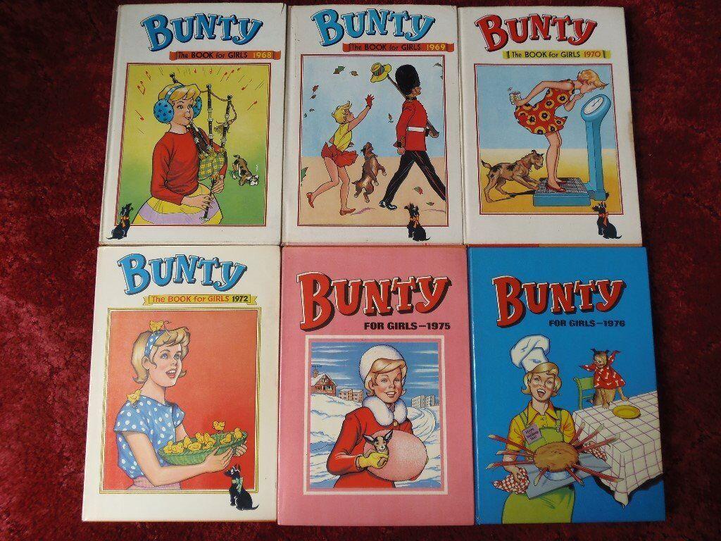 Bunty annuals 1968 1969 1970 1972 1975 1976