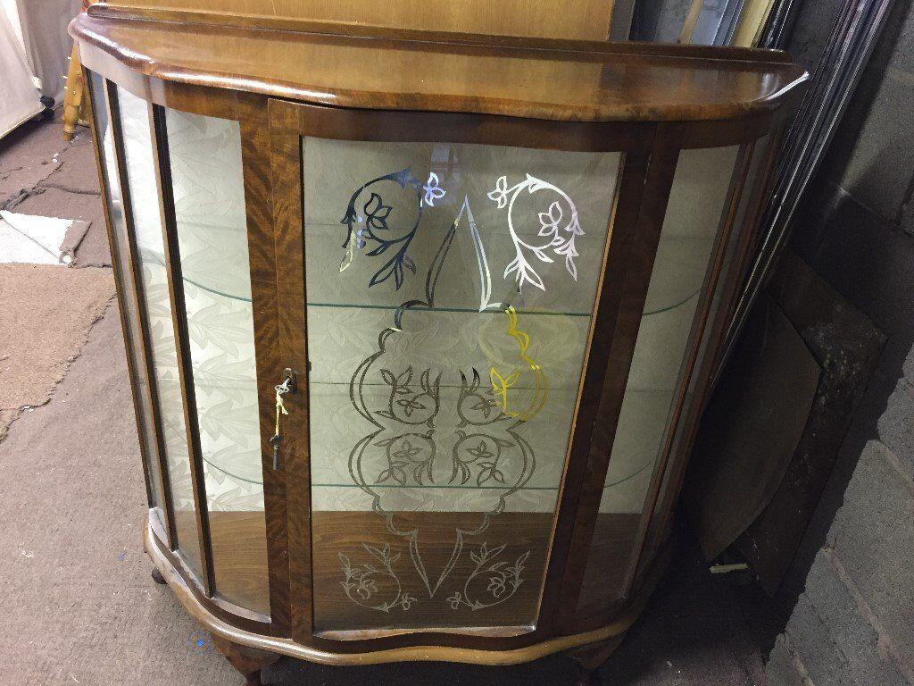 VINTAGE GLASS DISPLAY CABINET,CAN DELIVER