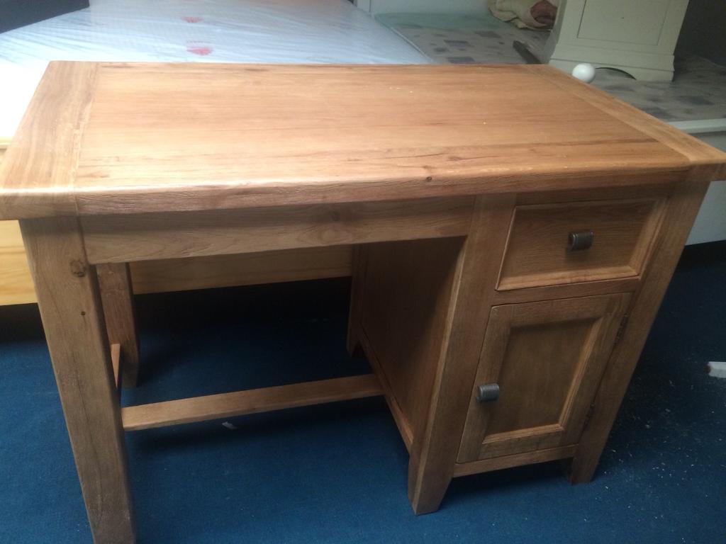 Oak desk sale