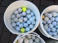 Golf balls. 100 in a bucket Bargain Price Look 👀