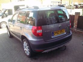 2012 skoda yeti 2.0 tdi 4x4 cr 170 low miles
