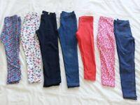 Girls (age 4-5 & 6-8) leggings/dresses bundle