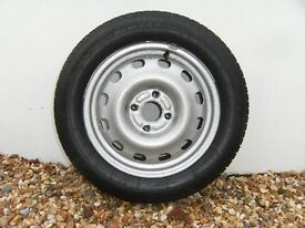 car wheel with new tyre