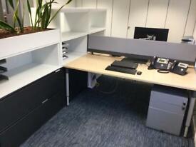 2 desks + storage + planter workstation - Quality and in VGC!