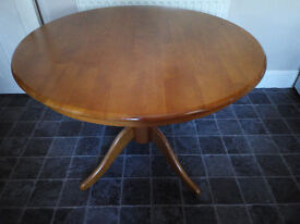 """Kitchen Table - Round - Dining - Real Wood - Large 42"""" inches - heavy and solid table"""
