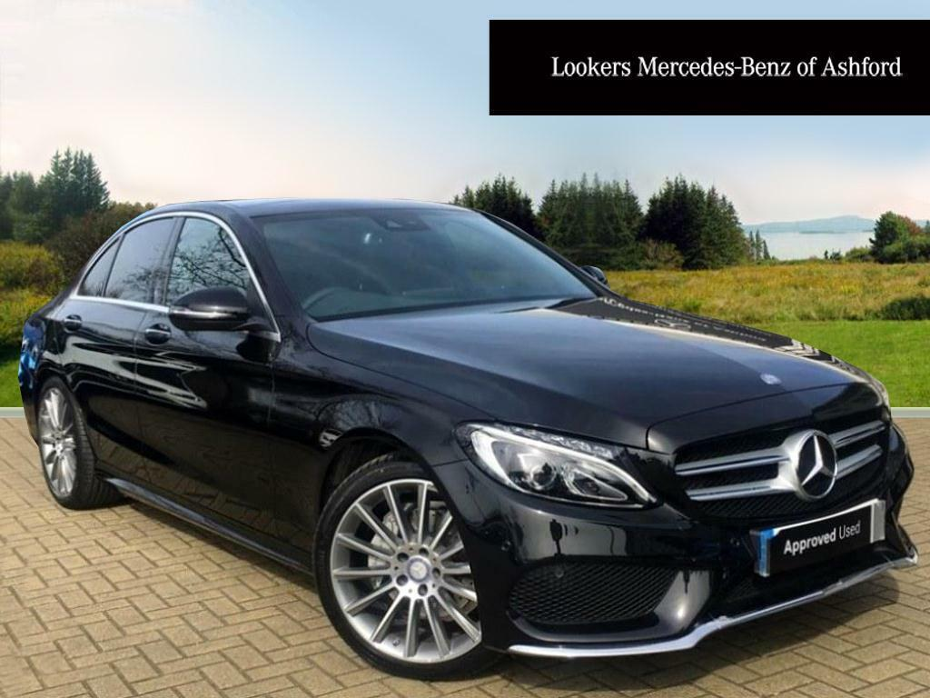 mercedes benz c class c220 d amg line premium plus black 2017 03 01 in ashford kent gumtree. Black Bedroom Furniture Sets. Home Design Ideas