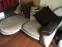 4 seater sofa and matching foot stall