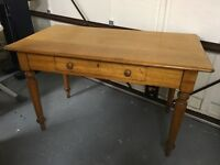 Old Solid oak table with drawer