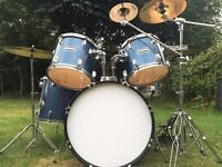 Full Drum Kit- Includes Remo Skins, 3 Zildjian Cymbals , Practice Pads And Lots More!