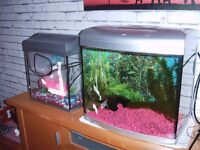 2 small fish-tanks for sale £40.00 ono