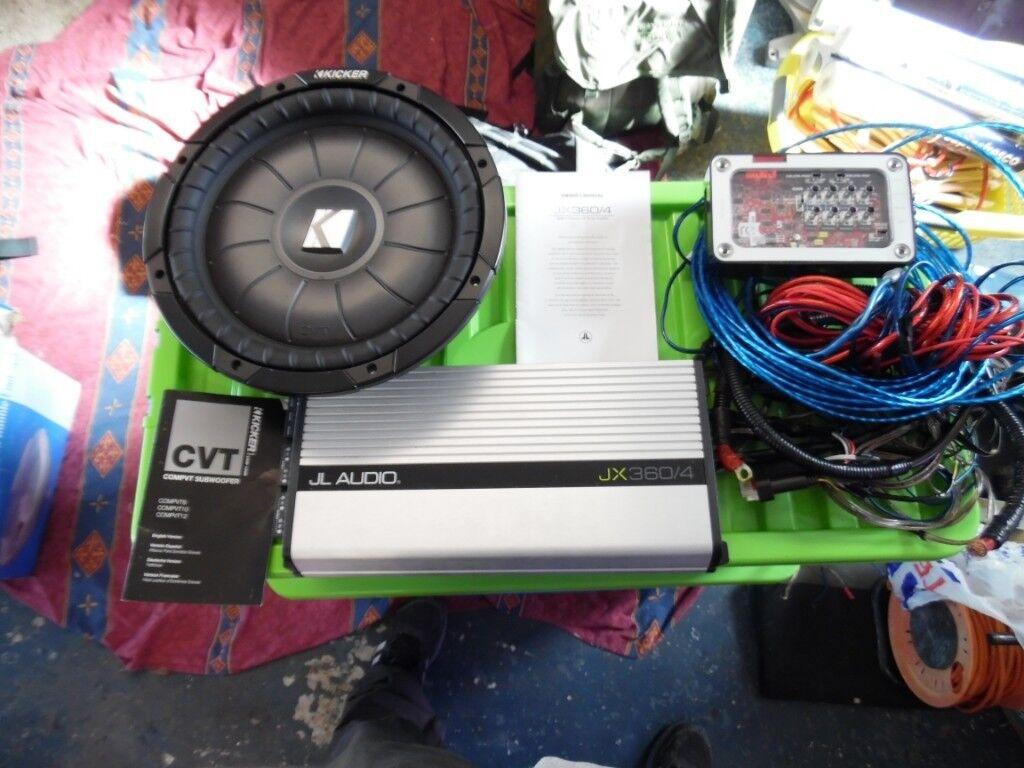 """JL Audio Amp wiring kit ,12"""" kicker comp sub"""
