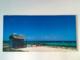 Photo print picture of secluded beach in Cuba