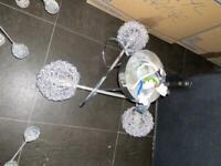 Six B+Q Flush to ceiling lights
