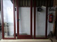 HARDWOOD PATIO WINDOWS AND DOOR