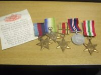 World War II set of five medals with paperwork for Clarence George Bracey