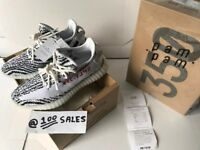 ADIDAS x Kanye West Yeezy Boost 350 V2 ZEBRA White/Black UK6 US6.5 CP9654 PAM/PAM RECEIPT 100sales