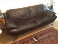 Leather sofa. 3 seater. Good condition.