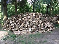 Hardwood part seasoned logs, mainly ash. Large load.