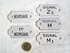 5 petites plaques maill es anciennes de chemin de fer ebay. Black Bedroom Furniture Sets. Home Design Ideas