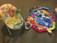 Baby bouncer chair and play mat