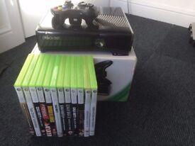 XBOX 360 250GB & 13 Games