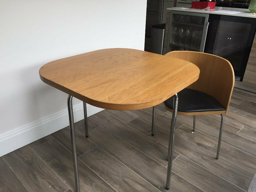 Ikea space save table 4 chairs that fit directly underneath 84cm square top x 75cm height - Space saving dining table ikea ...